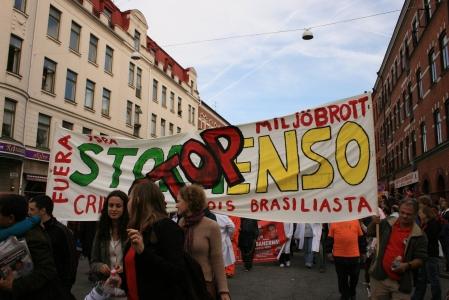 Mielenosoitus Euroopan sosiaalifoorumissa Malmössä 20.9.2008